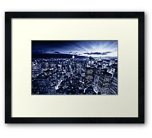 Blue York Framed Print