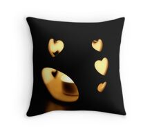 heart burning bright Throw Pillow