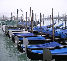 Gondolas of Venice by bevy111