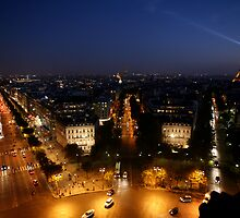 Champs Elysees at Night by swight