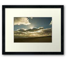 Sunrays over Goolwa Beach Framed Print