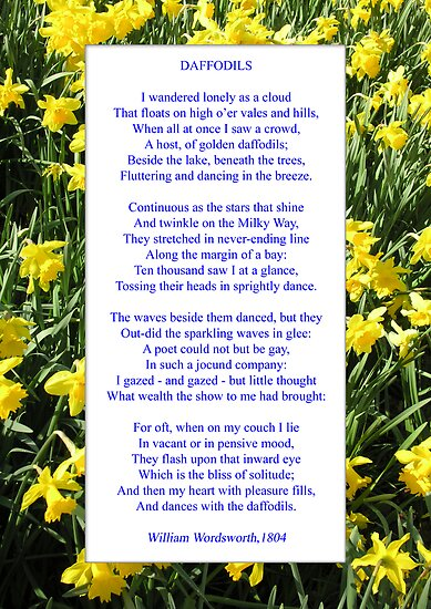 Host of golden daffodils poem