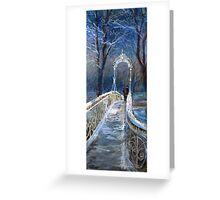 Germany Baden-Baden Winter Bridge Greeting Card