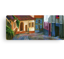 Germany Baden-Baden Old Street Canvas Print