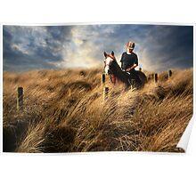 """""""Riding through a sea of grass"""" Poster"""
