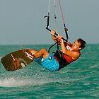 Kiteboarding by Jeff Blanchard