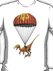 Parachuting Raptor T-Shirt