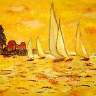 Yellow Sails by Patty Vogler by CoastalCarolina