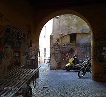 Graffiti at TRASTEVERE - ROME by Daniela Cifarelli