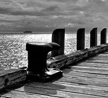 Portsea Jetty and ferry by Keith Stead