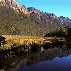 Mirror Lake, New Zealand by Jennifer Standing