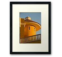 Cabo Watchtower Wins Unique Buildings of the World Challenge Framed Print