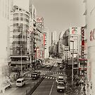 Shinjuku Streetscape by superpope
