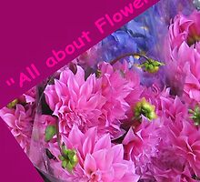 All about Flowers logo by Marilyn Baldey