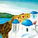 Santorini Day by Ave Renee
