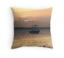 The Fishing Boat Returns Throw Pillow