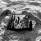 Sand Hands playing chess by Yanni