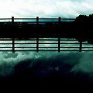 the cloud the fence (aqua) by georgeisme
