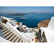 Views from Santorini Photographic Print