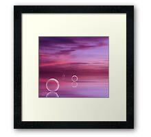 Rose Glass Framed Print