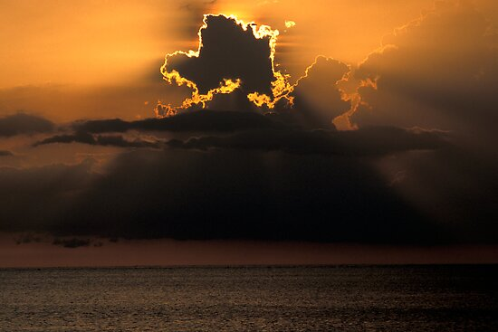 Thunderhead Over the Gulf by Bill Spengler