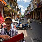 Hawker in Denpassar - Bali, Indonesia by Stephen Permezel