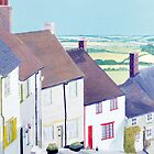 Gold Hill, Shaftsbury. by Olive Denyer