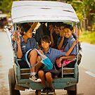 School Girls - Lombok, Indonesia by Stephen Permezel