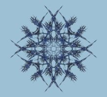Barbed Blue - Fractal Art design by Leah McNeir