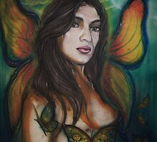 fairy with butterfly wings by americo