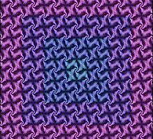 Fractal Fusion - In Aqua, Lilac and Pink by taiche