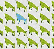 """blue cow"" by ArtProphet"