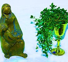 mary with jesus with chalice of shamrock  by paul35