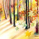 """Dream of Trees"" Watercolor/Digital by MiSook Kim by misook"