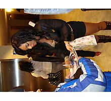 ASHANTI SIGNING AUTOGRAPHS FOR FANS Photographic Print