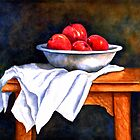 Still life with apples by Mary  Lawson