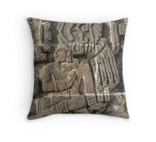 Xochicalco Sun Temple - High Relief Image Throw Pillow