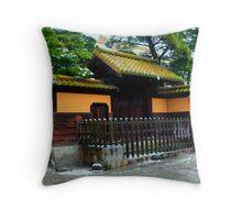 Snowy Kurashiki, Japan Throw Pillow