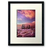Wave Motion - Port Willunga. Framed Print