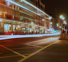 London by night, oxford circus junction by marcovw