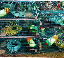 Lobster Traps by Nancy Barrett