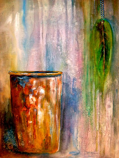 The Sap Bucket...A Still Life by © Janis Zroback