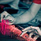 Weaving - Lombok, Indonesia by Stephen Permezel