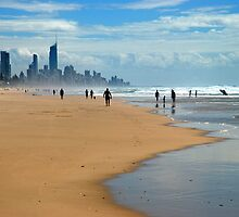 Surfers Paradise through the haze by Renee Hubbard Fine Art Photography