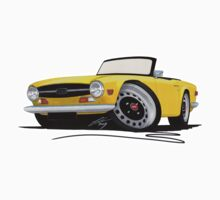 Triumph TR6 Yellow Kids Clothes