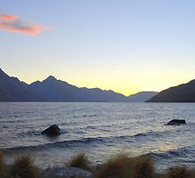 Lake Wakatipu, Queenstown, New Zealand, at Sunset by Catherine Sherman
