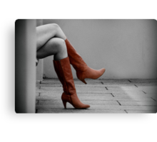 get on your boots Canvas Print