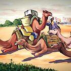 camel in morocco by azizhounti