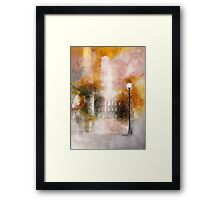 oldtown in fall  * special order prints: tokikoandersonart@gmail.com Framed Print