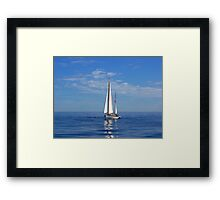 Alone With The Sea. Framed Print